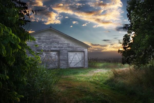 Granero en el campo