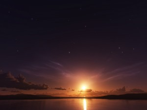 El sol y las estrellas en el mismo cielo