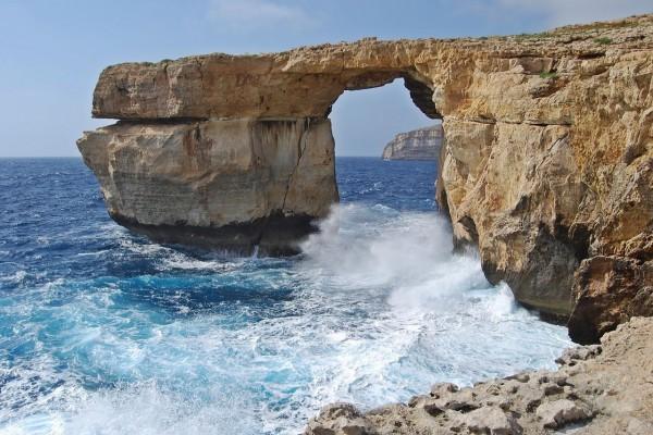 """""""La ventana azul"""" al oeste de la isla de Gozo"""