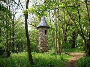 Warttürmchen (pequeña torre de vigilancia) en el Parque Hohenrode, Nordhausen (Turingia)