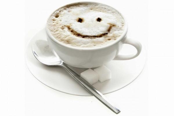 Café con cara feliz