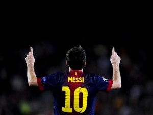 Lionel Messi con la 10