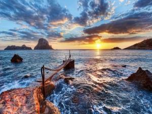 Postal: Amanecer en el mar