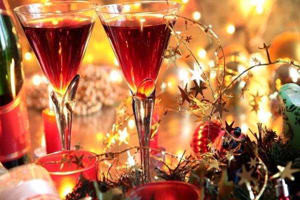 Copas para el brindis de Año Nuevo