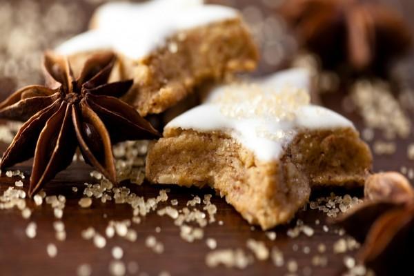 Cookies estrelladas cubiertas de azúcar