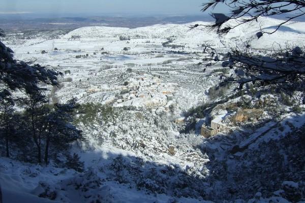 Agres nevado (Valencia, España)