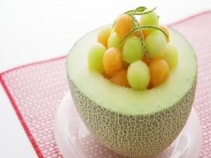 Postal: Ensalada de melón