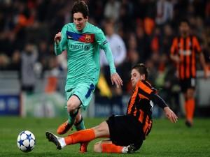 Postal: Messi con el Barça