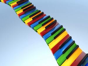 Teclado de colores