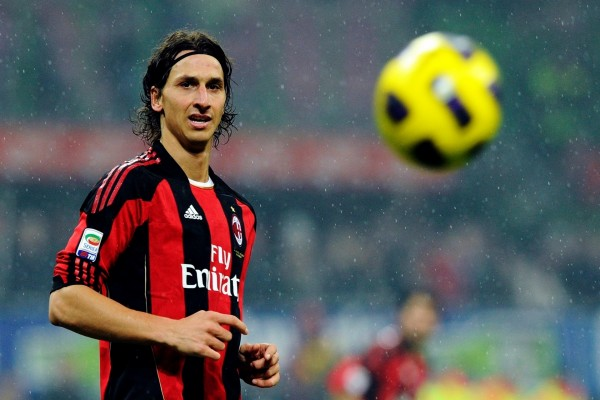 Zlatan Ibrahimovic con la camiseta del AC Milan