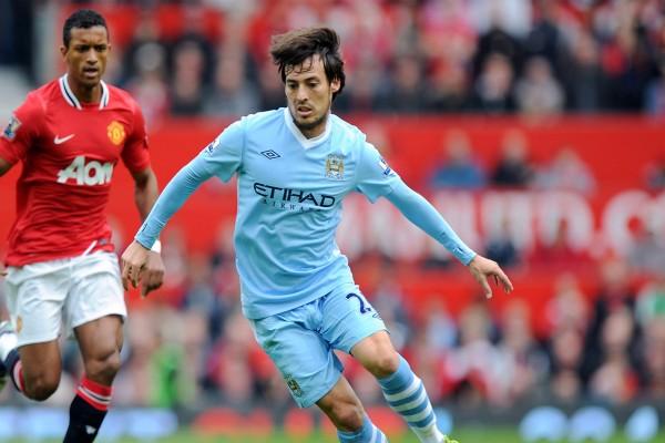 David Silva con el Manchester City