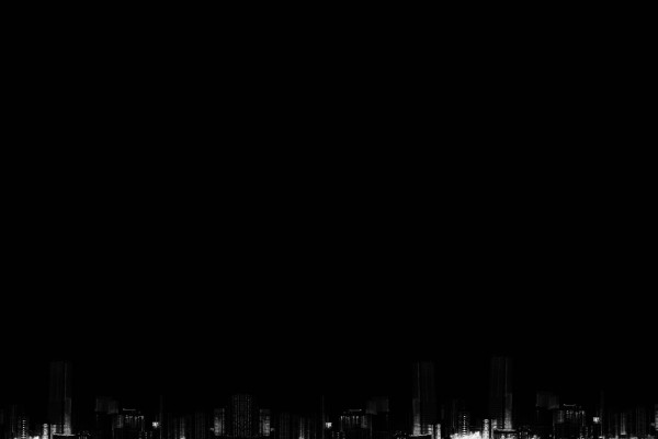 Edificios en la oscuridad