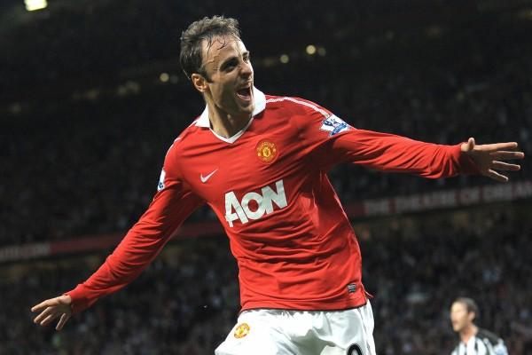 Dimitar Berbatov con la camiseta del Manchester United