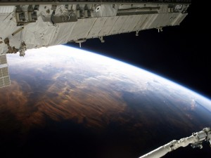 Postal: Vistas desde la órbita de la Tierra