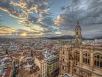 Vista de la ciudad de Málaga y la Catedral de la Encarnación