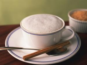 Café con crema y canela