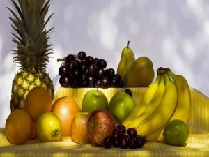 Postal: Frutas sanas y deliciosas