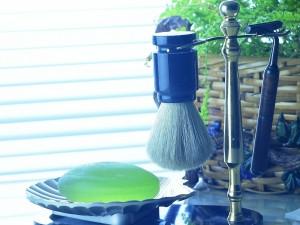Postal: Set de afeitar para hombre