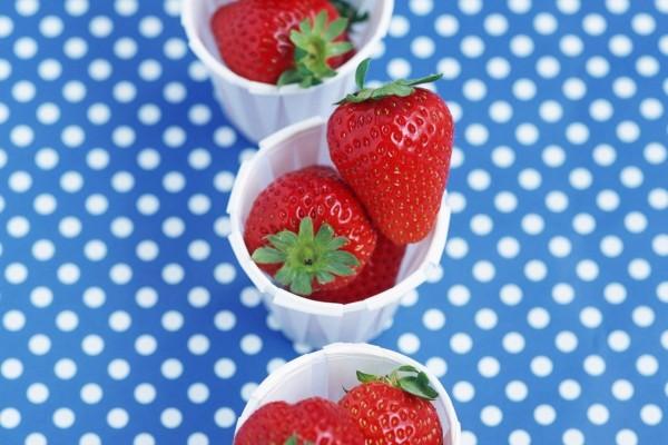 Vasitos con fresas