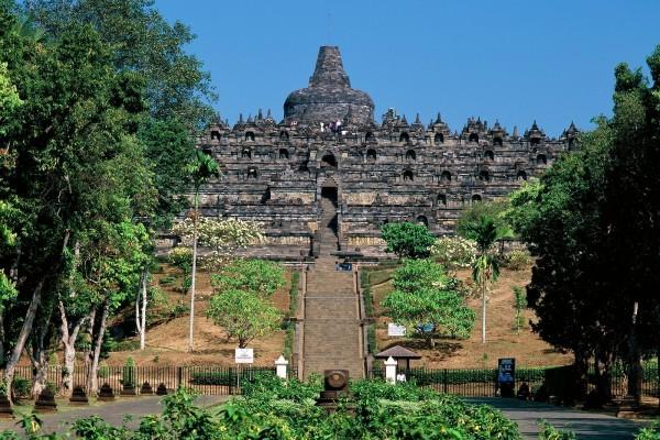 Borobudur, templo budista (Java, Indonesia)