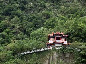 Postal: Templo Kuanyin en el Parque Nacional Taroko, Taiwan