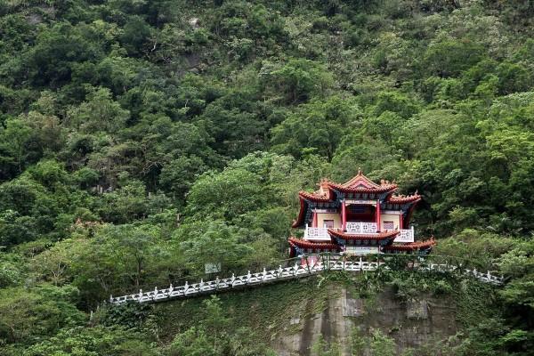 Templo Kuanyin en el Parque Nacional Taroko, Taiwan