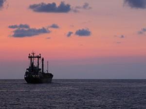 Postal: Buque en alta mar