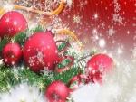 Bolas rojas navideñas