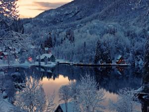 Postal: Invierno en Noruega