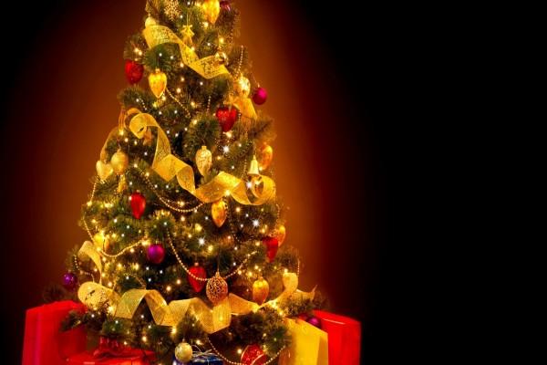 Arbolito de Navidad adornado