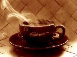 Postal: Café espresso recién hecho