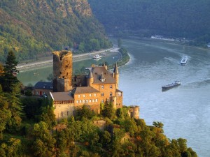 Postal: Castillo de Katz, St. Goarshausen (Alemania)