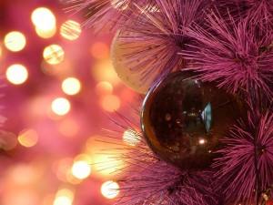 Bolas y luces en Navidad