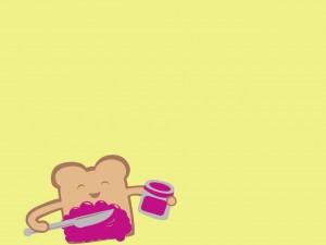 Tostadas con mermelada