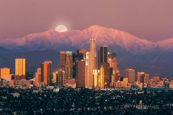 Preciosas vistas de la ciudad de Los Ángeles