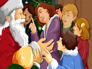 Postal: Saludando a Santa Claus