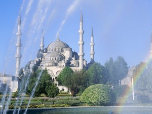 Postal: Mezquita Azul, en Estambul (Turquía)