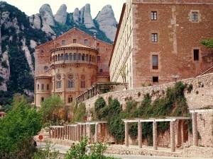 Postal: Monasterio de Montserrat, Barcelona