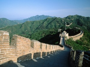 Paisaje visto desde la Gran Muralla China