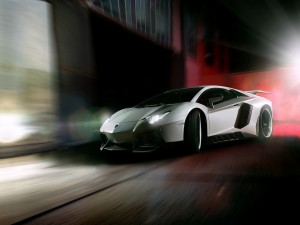 Postal: Lamborghini Aventador de noche
