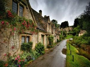 Postal: Conjunto de casas de piedra