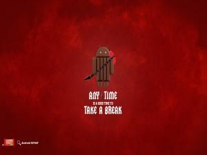 Postal: Android KitKat (tómate un descanso)