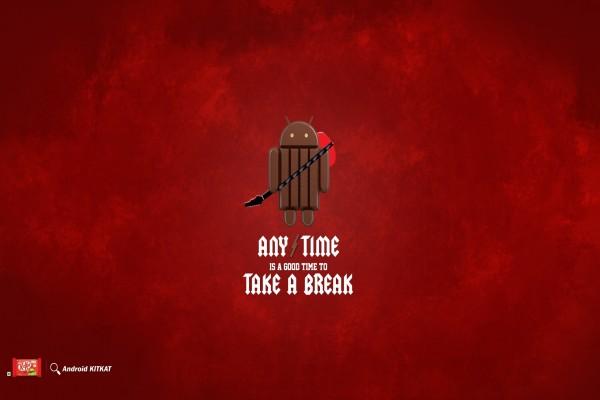 Android KitKat (tómate un descanso)