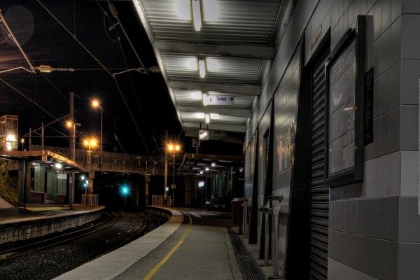 Estación de tren solitaria
