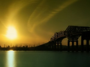 Postal: Puente en la sombra