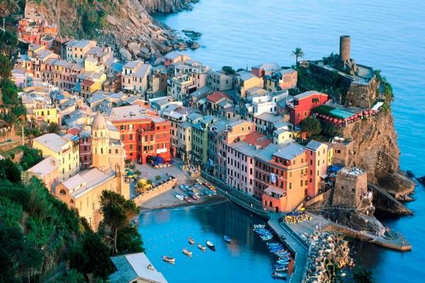 Vista de Liguria, Italia