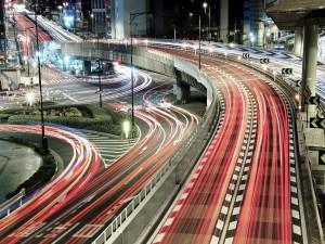 Postal: Luces de Tokio
