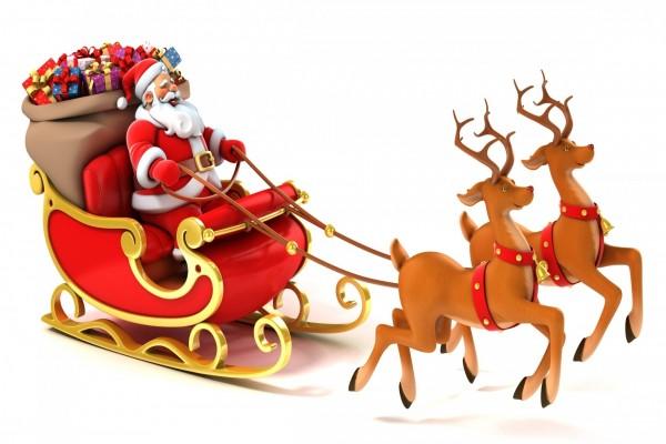 Papá Noel y su trineo