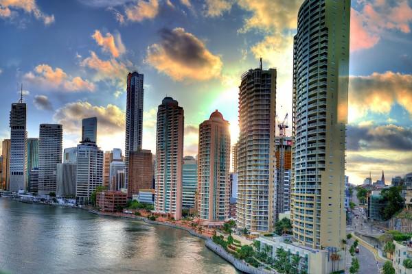 Edificios de la ciudad de Brisbane, Australia