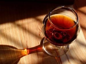 Postal: Copa de brandy
